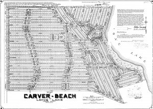 Original plat map of Carver Beach Chanhassen
