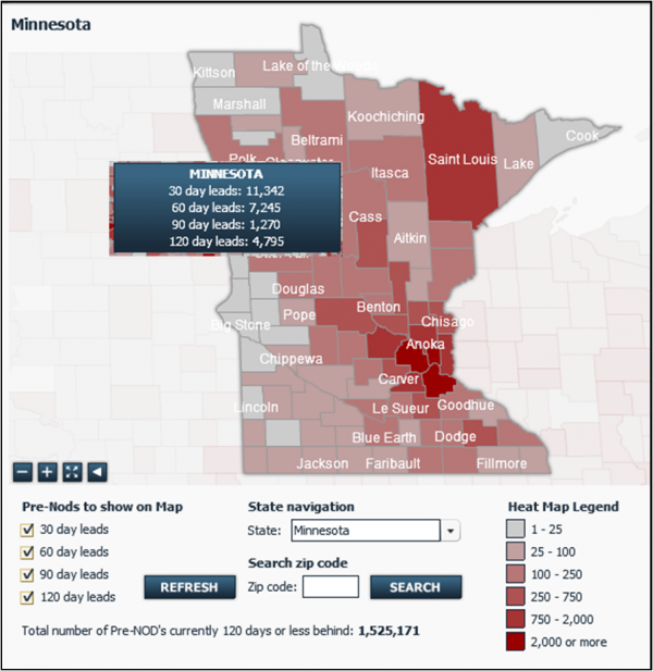 pre foreclosure hot spot map minnesota